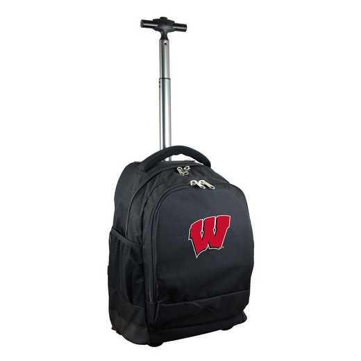 CLWIL780-BK: NCAA Wisconsin Badgers Wheeled Premium Backpack